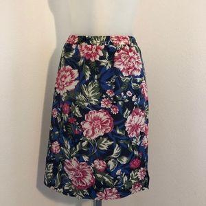 Ann Taylor LOFT Floral Elastic Waistband Skirt